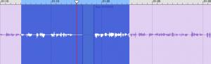GarageBand waveform