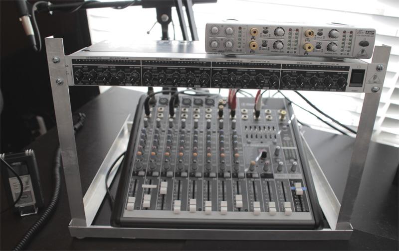 diy desktop rack mount for podcasting the podcasters studio