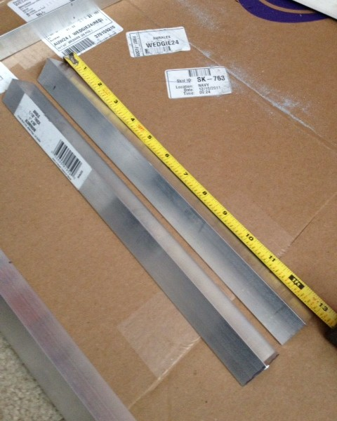 """2 - 13"""" vertical front pieces that will hold the rack equipment"""